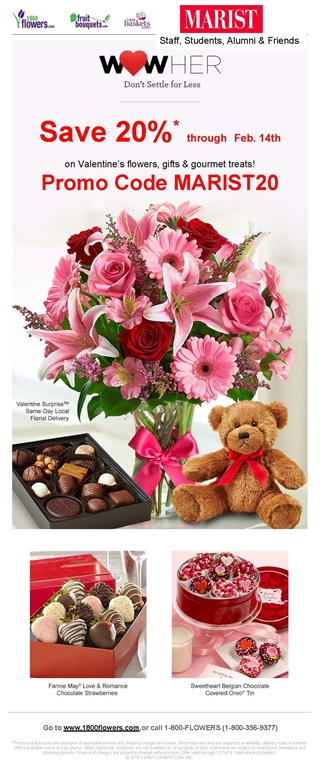 marist connect - 1-800-flowers valentine's day discount for, Ideas