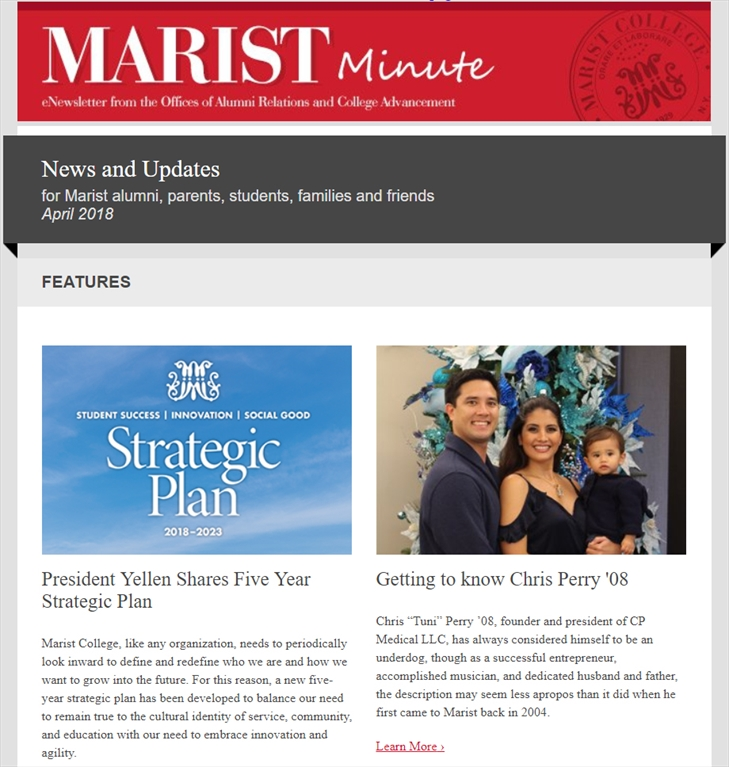 Marist Minute April 2018
